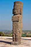Atlantean postać w Tula Meksyk Obraz Royalty Free
