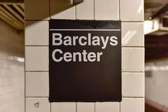 Atlanten Av, Barclays centrerar stationen, New York City Arkivbilder