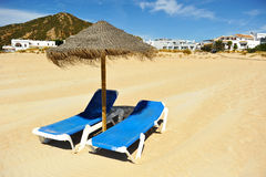 Atlanterra beach, Zahara de los Atunes, Cadiz province, Spain Royalty Free Stock Photography