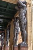 Atlantes на музее обители стоковое изображение rf