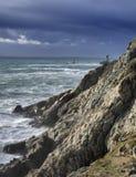 Atlantic. Wild stormy coasline before storm, high density range image Stock Photography