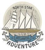 Atlantic Adventure stamp Stock Photography