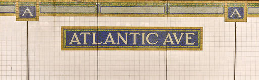 Atlantic Avenue, Barclays Center Station - NYC Subway Royalty Free Stock Photos