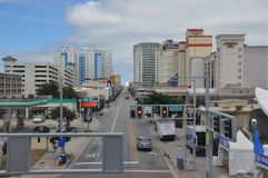 Atlantic Avenue in Virginia Beach Royalty Free Stock Image