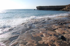 Atlantic beach. Near La Pared  on the island of Fuerteventura, Canary Islands.This beach is facing open sea and it can be  extremely dangerous to swim from, as Stock Images