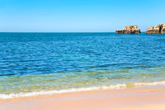 Atlantic beach in Algarve, Portugal Royalty Free Stock Photos