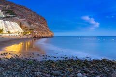 Atlantic beach of Gran Canaria island in Taurito Stock Photography