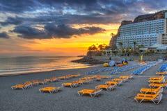 Atlantic beach of Gran Canaria island Stock Image