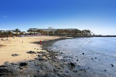 Atlantic beach, Lanzarote Stock Photography