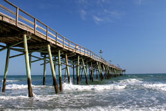 Atlantic Beach Pier. Pier and Ocean in Atlantic Beach, North Carolina royalty free stock photography