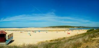 Atlantic Beach, Portugal. lagoa de melides Royalty Free Stock Photo