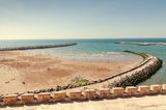Atlantic beach in Rabat. Morocco Royalty Free Stock Photos
