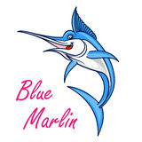 Atlantic blue marlin symbol for mascot design Royalty Free Stock Photography