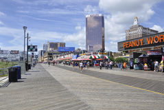 Atlantic City,August 4th:Atlantic City Resort Promenade in New Jersey Royalty Free Stock Photos