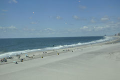 Atlantic City,August 4th:Ocean Beach from Atlantic City Resort in New Jersey Stock Photo