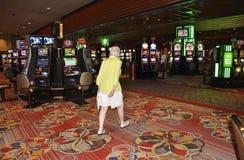 Atlantic City, 4 Augustus: Casino binnenlandse mening van de Toevlucht van Atlantic City in New Jersey Stock Afbeeldingen