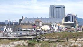 Atlantic City. Bally`s Casino and the Boardwalk in Atlantic City, New Jersey stock footage