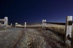 Atlantic City Beach Entrance. Entrance to beach at Atlantic City, NJ at dusk Royalty Free Stock Photography