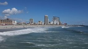 Atlantic City Beach stock video footage