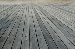 Atlantic City boardwalk. Closeup of Atlantic City boardwalk. Wooden planks parallel to each other Royalty Free Stock Photography