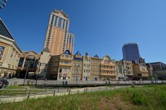 Atlantic City Boardwalk. Metropolitan area is city, urban area and tower block. That marvel has landmark, town and human settlement and that beauty contains Stock Image