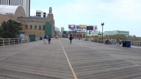 Atlantic City Boardwalk stock footage