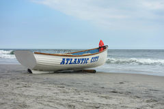 Atlantic City Boat. A boat on the beach with the word Atlantic City Royalty Free Stock Photos