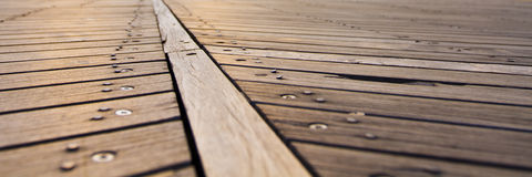 Atlantic City Broadwalk wood slats Stock Photography