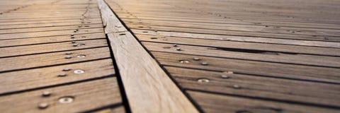 Atlantic City Broadwalk wood slats. With screws and nails Stock Photography