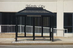 Atlantic City Bus Stop Royalty Free Stock Photo