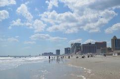 Atlantic city coastline stock image