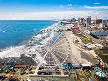 ATLANTIC CITY, DE V.S. - 20 SEPTEMBER, 2017: De waterlijn van Atlantic City Stock Foto's