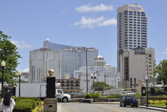 Atlantic City, el 4 de agosto: Casinos y hoteles de Atlantic City en New Jersey fotografía de archivo libre de regalías