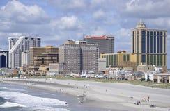 Atlantic City, el 4 de agosto: Horizonte del centro turístico de Atlantic City en New Jersey Fotos de archivo libres de regalías