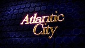 Atlantic City Glitz Sparkle Text Stock Photography