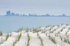 Atlantic City im Abstand Stockfoto