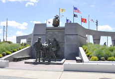 Atlantic City, le 4 août : Mémorial de Guerre de Corée d'Atlantic City dans le New Jersey image libre de droits