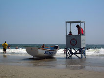 Atlantic city lifeguards Royalty Free Stock Photos