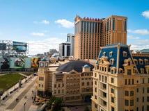 Atlantic City, los E.E.U.U. - 20 de septiembre de 2017: Foto aérea de los casinos y del paseo marítimo de Atlantic City imagenes de archivo