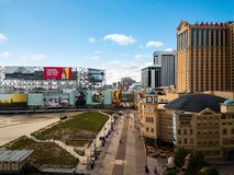 Atlantic City, los E.E.U.U. - 20 de septiembre de 2017: Foto aérea de los casinos y del paseo marítimo de Atlantic City imagen de archivo