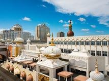 Atlantic City, los E.E.U.U. - 20 de septiembre de 2017: Vista aérea del casino de Taj Mahal del triunfo imagenes de archivo