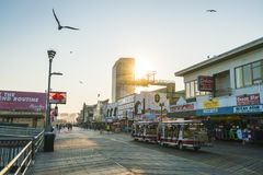 Atlantic City, New Jersey, Etats-Unis 09-04-17 : Promenade d'Atlantic City photo stock