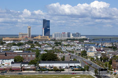Atlantic City, New Jersey. The marina district of Atlantic City, New Jersey From Left to Right: Golden Nugget Casino, Harrah's Casino, Gardners Basin (marina stock photography