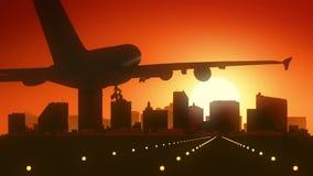 Atlantic City New Jersey USA America Skyline Sunrise Landing Royalty Free Stock Image