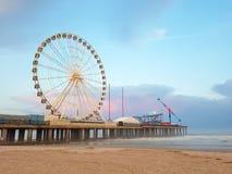 ATLANTIC CITY, NJ - MAI 2018 Vue d'Atlantic City au coucher du soleil, New Jersey La ville est connue pour ses casinos, promenade Photo stock
