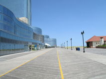 Atlantic City, NJ USA. Tall Revel Casino and boardwalk on 06/10/2015. Г. Stock Images