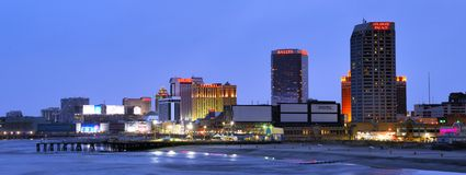 Atlantic City Panorama Royalty Free Stock Photos