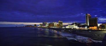 Atlantic City Shoreline. Facing southwest. Very large panorama image Royalty Free Stock Photos