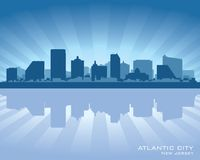 Atlantic City, silhouette d'horizon de New Jersey illustration stock