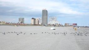 Atlantic City Skyline stock video